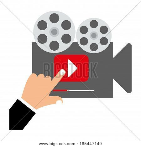 projector video or film icon image vector illustration design