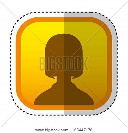 silhouette user avatar square button vector illustration design