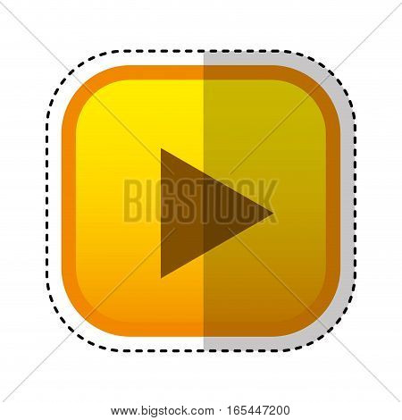 play button interface icon vector illustration design