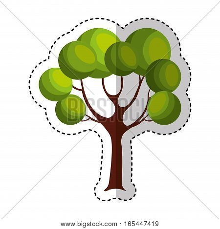 game tree isolated icon vector illustration design