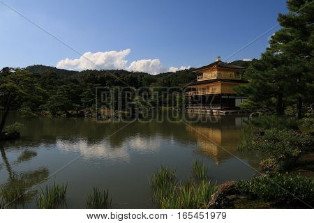 The beautiful Golden Pavilion in Kyoto, Japan.