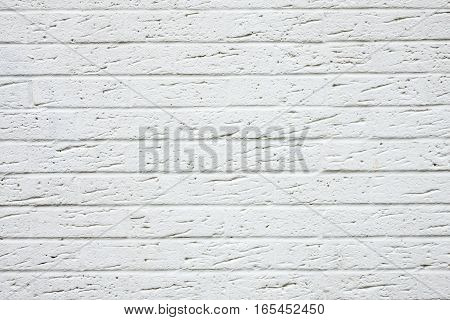 White bricks wall pattern in a newly constructed building