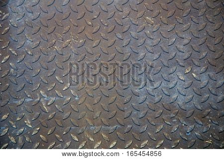 Dirty Metal Diamond Grip Pattern Texture And Background