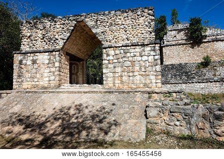 Arched Entrance To Ek Balam