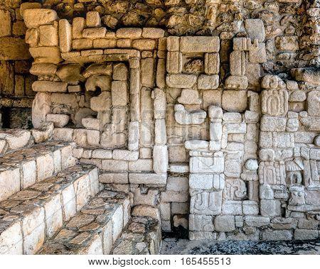 Ancient Mayan Wall Decorations In Ek Balam