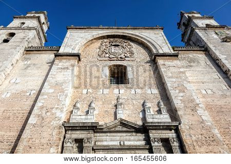 San Ildefonso Cathedral In Merida, Yucatan, Mexico