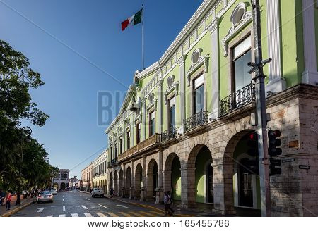 The Government Palace In Merida, Yucatan, Mexico