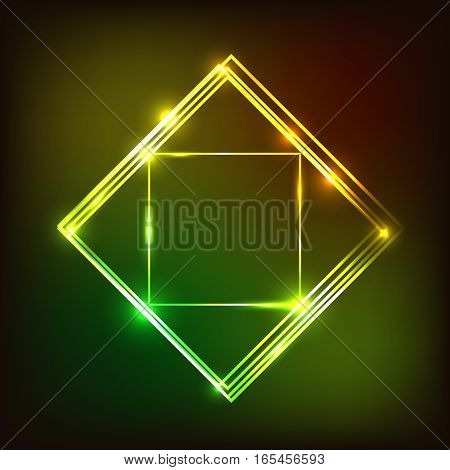Abstract glowing background with squares, stock vector