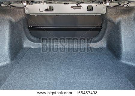 Empty inside boot car vehicle automobile .