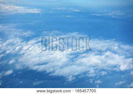 Cloudy Sky And Blue Clear Sky Clouds Background,aerial Top View