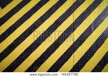 Yellow And Black Marking Warning Sign, Grunge Background