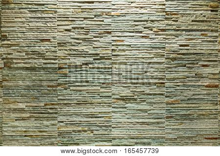 Wall Texture Background From Rock Stone Brick Tile Slate Close Up