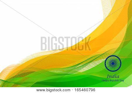 illustration of Happy Republic Day of India background