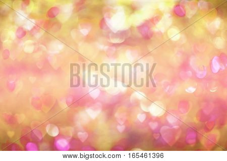 Valentine's day background. blurred bokeh with hearts bokeh style. copy space for adding your text or use for background