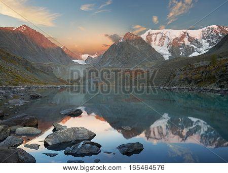 Beautiful Summer Landscape, Altai Mountains Russia.