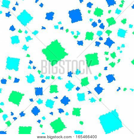 Abstract Background With Random Squares. Pattern For Recycle Concept.