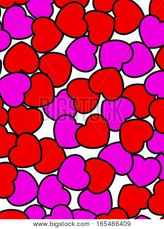 Abstract Shapes For Saint Valentines Holiday, High Definition Design