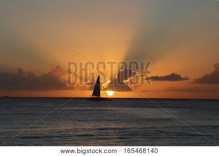 Sunset at La Romana in Dominican Republic
