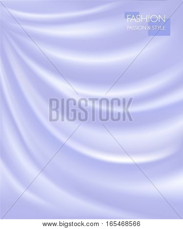 vector illustration of smooth elegant luxury silk or satin texture. Can be used as background.