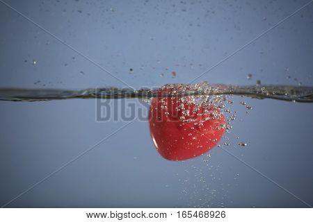 Heart splashing as a symbol of love
