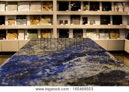 Empty stone counter and marble samples background, products for kitchen remodel. Kitchen, Counter, Marble Counter, Stone.