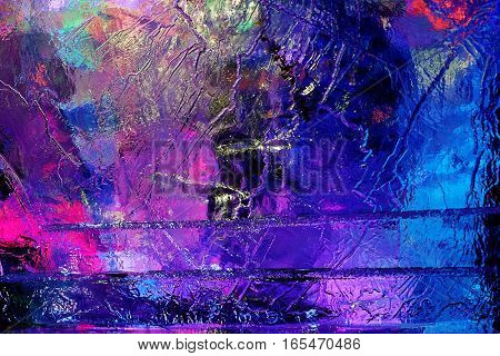bright beautiful colorful ice structure gorgeous background