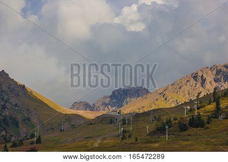 Tien Shan Mountains Shymbulak Ski Resort At Summer Time, Almaty, Kazakhstan