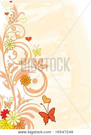 Vector abstract orange background