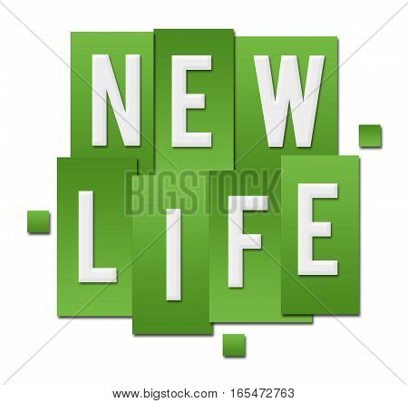 New life text alphabets written over green background.