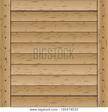 Wooden texture of a set horizontal planks vector illustration.