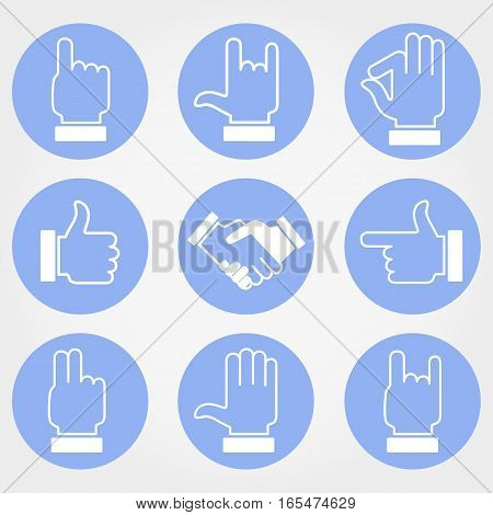 Human Hand Signs. Vector image. Design elements.