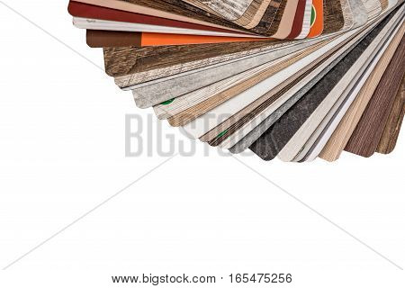 flooring samples isolated on a white background.