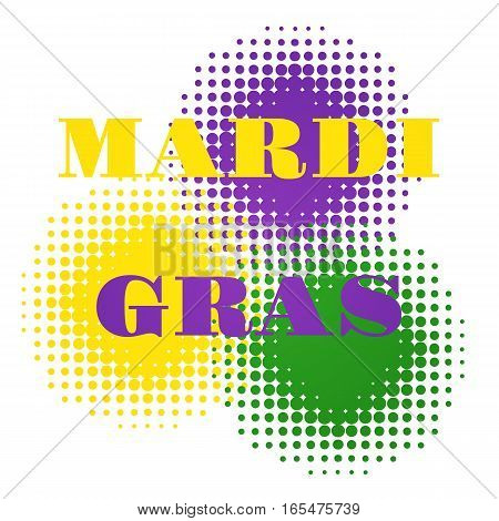 Vector illustration of Mardi Gras halftone background.