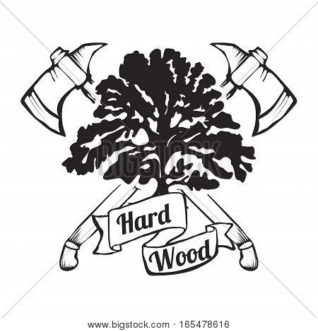 Lumber Shop Label Design Elements Vector Illustration