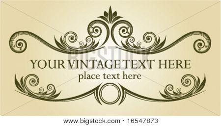 Vintage frame. Vector illustration.