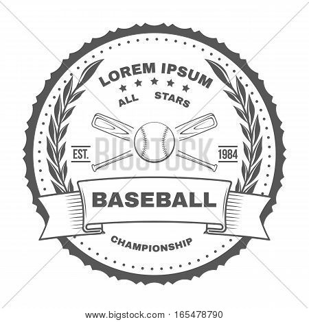 Set of vintage baseball labels and badges. Vector illustration