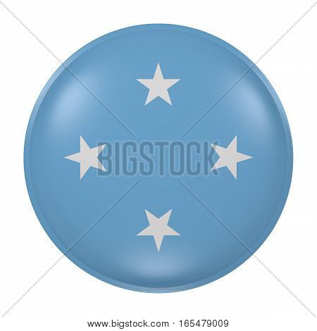 Micronesia Button On White Background