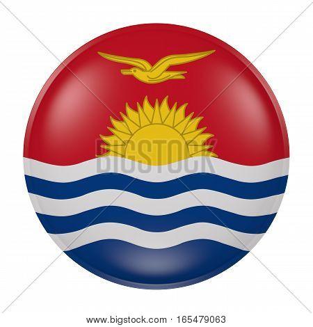 Kiribati Button On White Background