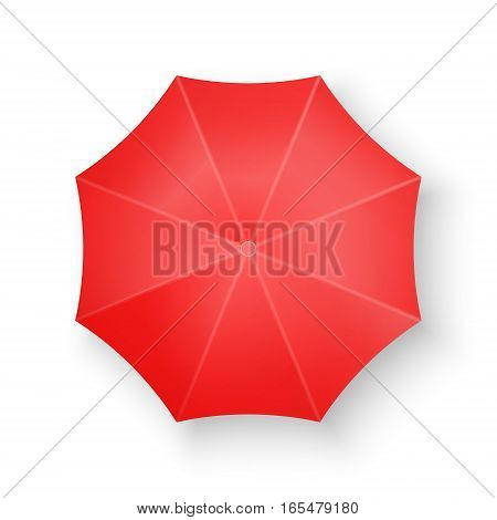 Red Umbrella Isolated on white Vector illustration
