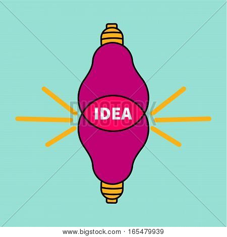 Icon brainstorming. Two lights intersect. Idea for logo creative agency. Vector illustration.