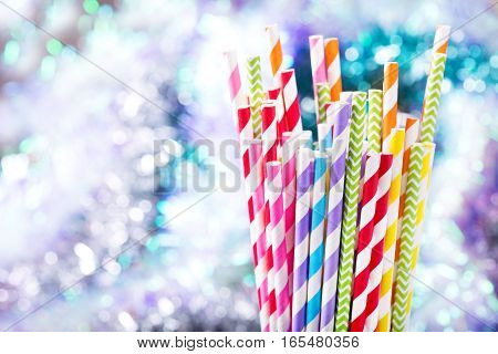 Colorful Drinking Striped Straws