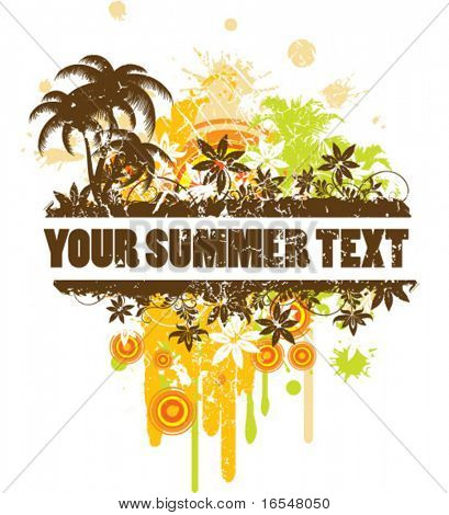 Summer border for text.