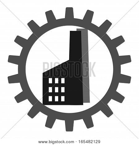 Vector set. Gear, cog, sprocket, wheel, plant