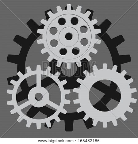 Vector set. Gear, cog, sprocket or wheel