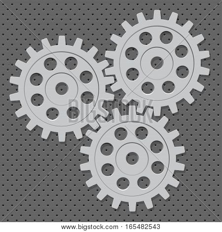 illustration of abstract web design with copy space in cog wheel