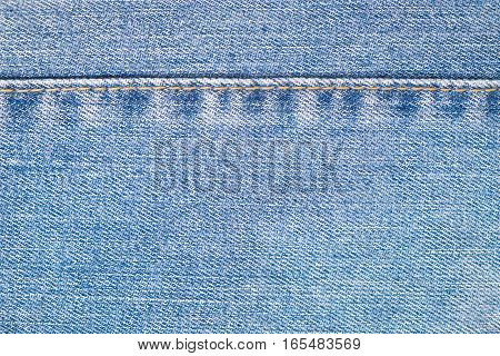 Denim Jeans Textile Close Up Isolated