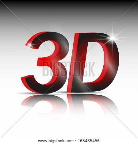 3d vector background for you design.Dimension text