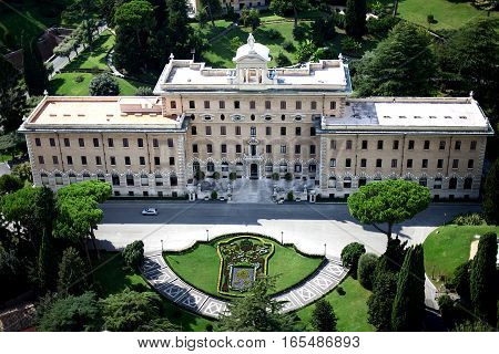 The Pinacoteca of the Vatican. Italy view
