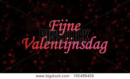 "Happy Valentine's Day Text In Dutch ""fijne Valentijnsdag"" On Dark Background"