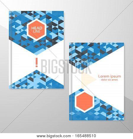 Abstract brochure or flyer design template. Book design blank print design journal. Brochure vector. Brochure template. Flyer design. Flyer template. Brochure abstract design. Brochure background